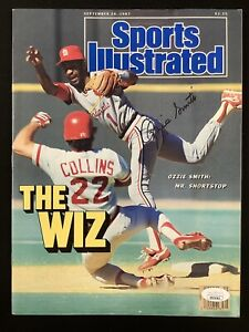 Ozzie Smith Signed Sports Illustrated 9/28/87 No Label Cardinals Autograph JSA