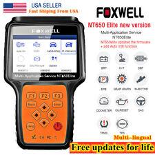 FOXWELL NT650 Elite OBD2 Diagnostic Scanner ABS SRS Bleeding TPMS DPF Reset