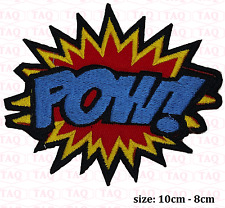 Pow iron sew on patch comic novelty batman embroidered badge applique  # 051