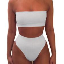 Women Bandage Bikini Push-up Padded Bra Swimsuit Bathing 2pcs Set Swimwear 3c Red M