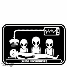 "ALIEN Workshop/AWS ""RAPIMENTO"" Skateboard Sticker 8 CM x 5 cm 1990 S Nero Decalcomania"