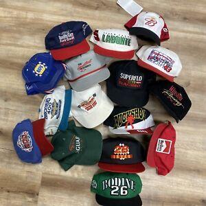 VINTAGE 80s 90s SNAPBACK HAT LOT of 15 NASCAR MARLBORO CHEVROLET RACING CARS