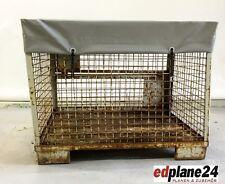 1 x Abdeckhaube für Gitterbox aus LKW-Plane grau Höhe=100 mm mit Gummi-Spannring