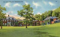 St. Luke's Hospital, Bethlehem, Pennsylvania PA Postcard - Mebane 66155