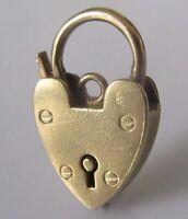 9ct Gold Pendant -  Vintage 9ct Yellow Gold Padlock Charm Pendant