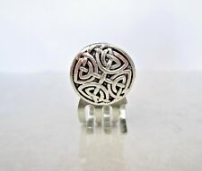 Tiny mini celtic silver metal hair claw clips