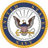 Large US Navy Logo Vinyl Sticker Decal 4 Stickers