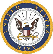 Large Us Navy Logo Vinyl Sticker Decal 4 Stickers