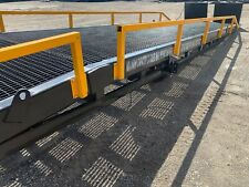 """NEW Forklift Ramp, Yard Ramp, Yard Dock, GRATED, 90"""" WIDE, Removable Rails."""