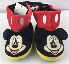 NEW Toddler Boys' Mickey Mouse Bootie Slippers Size 7/8 NWT