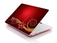 "15.6"" Laptop Notebook Skin Sticker Cover Vinyl Decal Red Flower Art Toshiba HP"