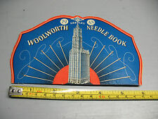VINTAGE   WOOLWORTH NEEDLE  BOOK WESTERN  GERMANY