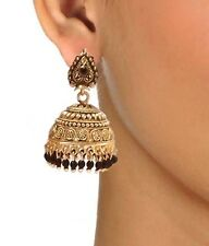 AnM - BIG - Beautiful black beads Jhumka Earrings / Jhumki - E219