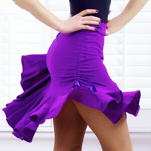 Fashion Womens Latin Salsa Tango Rumba Cha Cha Ballroom Dance Dresses Skirts