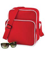 BAGBASE RETRO BAG ADJUSTABLE SHOULDER STRAP TRAVEL SCHOOL WORK UNI COLOURS NEW