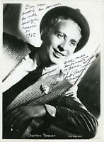 CHARLES TRENET 1945 VINTAGE PHOTO ORIGINAL SIGNEE DEDICACEE SIGNED & INSCRIBED