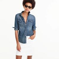 J.Crew Western chambray shirt in vintage indigo Size 4 item #G1394 J