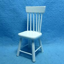 Dollhouse Miniature Kitchen / Dining Room Spindle Chair in White ~ CLA01212