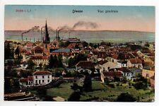 DIEUZE DUSS Moselle CPA 57 carte couleur vue generale salines