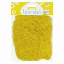 Yellow Easter Grass Bonnet Decoration Straw Baskets Arts Craft Nests