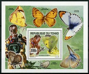 Chad 2013 MNH Scouting & Nature Butterflies 1v Deluxe S/S Scouts Insects Stamps