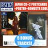2 JAPAN POSTCARDS+POSTER+5 BONUSTRACK INCL SOUL+BLU SPEC CD COURAGE! CELINE DION