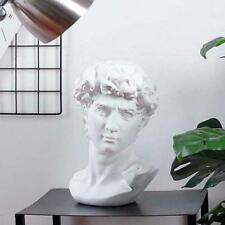 David Portraits Sculpture Gypsum Resin Statue Michelangelo Buonarroti Bust Y5N3