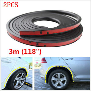 2x Car SUV Fender Flare Protector Anti-scratch Wheel Eyebrow Moulding Trim Lip
