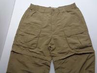 L.L Bean Convertible Cargo   Men's Pants color Brown size M