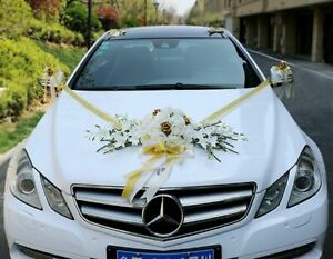 Wedding Car Silk Flower Decoration Weddings Vehicle Centerpiece Artificial Roses