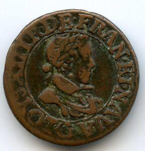 Louis XIII (1610-1643) Double tournois 1619 G Poitiers