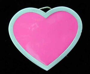 CUTE LITTLE PINK HEART BELT BUCKLE NEW!
