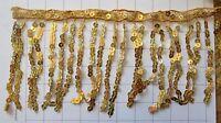 5.5 Gold Holographic Sequins Fringe Trim (C-A)