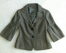 Ann Taylor Sz 2 Wool Boucle Suit Coat Jacket 3/4 Sleeve Jackie Kennedy 60s Style