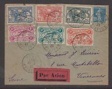 FRANCIA 1923 Rouen AVIAZIONE riunione VIGNETTE a 5fr su volati COVER