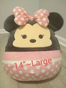 "New Large 14"" Disney Minnie Mouse Squishmallow Soft Plush Gift Kellytoy Rare"