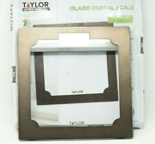 Taylor Digital Bathroom Body Weight Scale, Tempered glass, Bronze 400lb/180kg