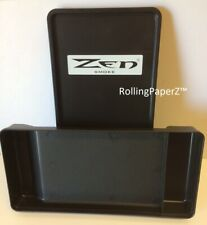 ZEN Smokers Rolling Box/TRAY - Cigarette RYO Black Sealable Lid Rubber Gasket