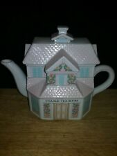 Vintage Lenox Village Tea Room Decorative Teapot 1991 Porcelain