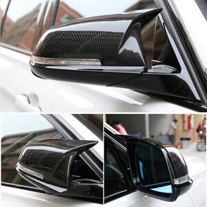 Carbon Fiber Style Rear Mirror Cover Caps For BMW F20 F21 F30 F32 F36 X1 M3
