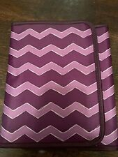 Thirty One Notebook/IPAD  Holder In Chevron Plum