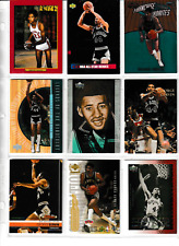 George Gervin (Spurs)  9 card lot with inserts