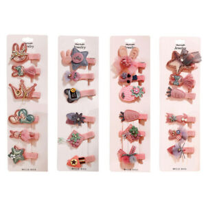 6pcs/Set Hair Clips For Girl Hairpins Hair Accessories For Women Pink Barrettes