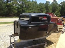 1932 32 Ford three window coupe fiberglass body doors Hung and latched