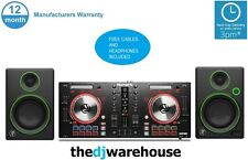 NUMARK MIXTRACK PRO 3 + MACKIE CR4+ HEADPHONES & LEADS - BUNDLE DJ SERATO *FREE