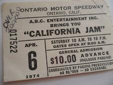 1974 CALIFORNIA JAM Original__TICKET STUB__Deep Purple, Black Sabbath, ELP