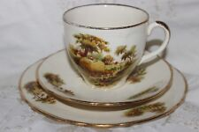 Alfred Meakin  Trio Tea Cup and Saucer Side Plate Farm Scene Horses