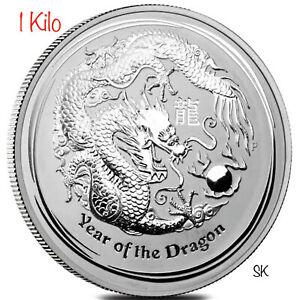 2012 Lunar Dragon Kilo Silver Coin