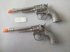 Vintage Toy Hubley Pet Cap Guns, Single Shot Double Action Pistols