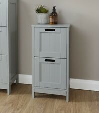 Grey Bathroom Cabinets Floor Standing Chest of Drawers Under Basin Unit Cupboard